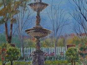 Fountain at Echoes - Leura